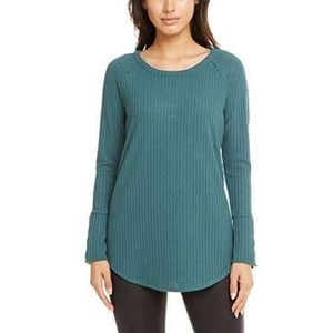 Chaser Long Sleeve Waffle Knit Thermal Buttons